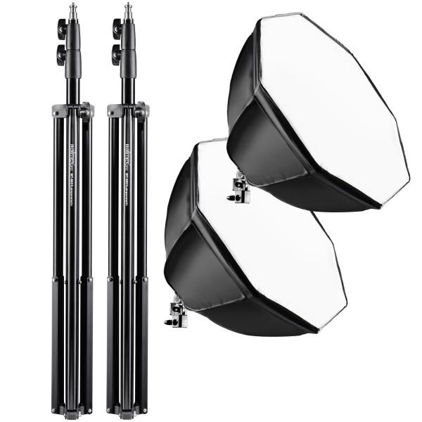 Walimex Pro 2er Set Daylight 250+ Octagon+ Stativ