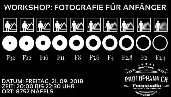 Workshop: Fotografie für Anfänger am 21.09.2018