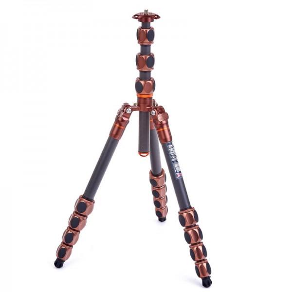 3 Legged Thing Pro 2.0 Albert Bronze - Profi Reisestativ aus Carbon bis zu 30 kg Tragfähigkeit