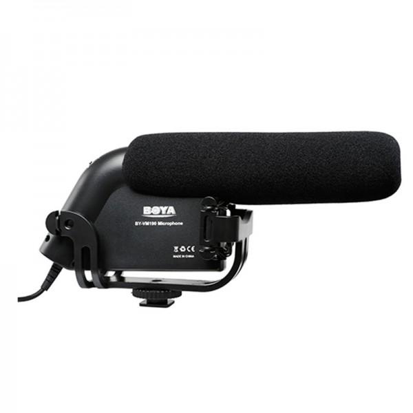 Boya BY-VM190 Mikrofon mit Hochpass-Filter für DSLRs, DSLMs, Camcorder und Audiorekorder