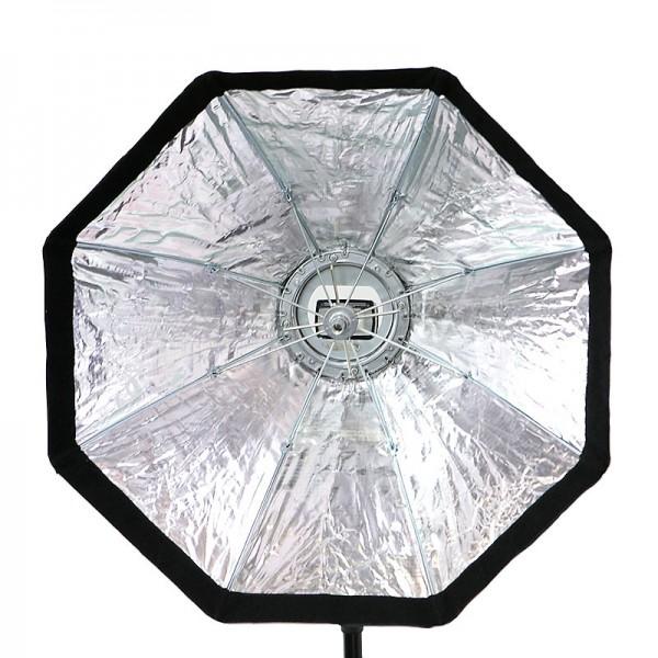 Quenox Octagon-Softbox 60 cm für entfesselte Aufsteckblitze - mit Diffusor, Wabengitter und Beauty D