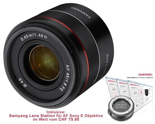Samyang Objektiv AF 75mm F1.8 FE - Tiny but Absolute inkl. Samyang Lens Station für AF Sony E Objekt