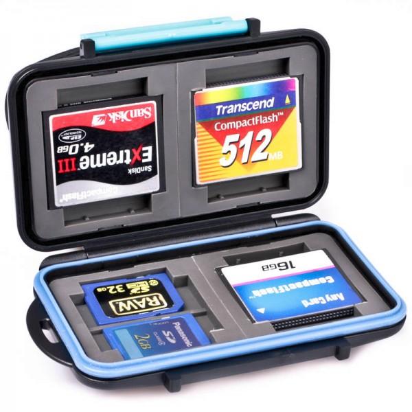 Speicherkartenetui für 8x SD-Karte und/oder 4x CF-Karte - stoss- und wasserfest