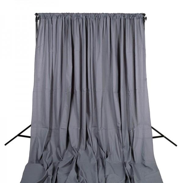 Quenox Hintergrundstoff 300 x 600 cm 160 g/m2 grau