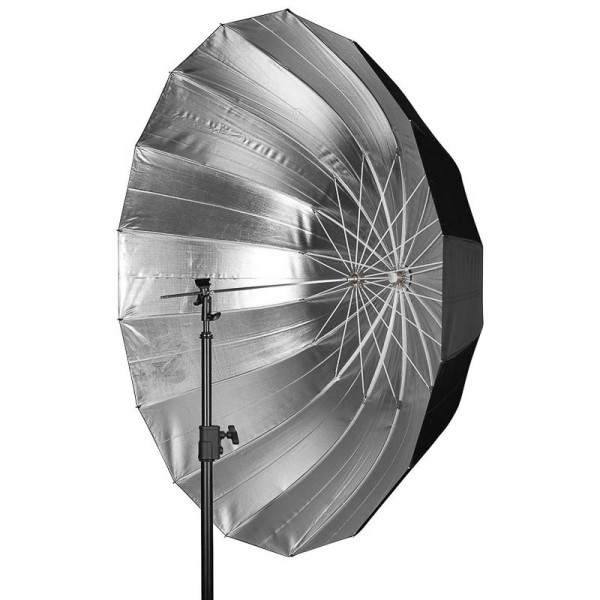 Westcott Apollo Deep Umbrella Silver 134 cm - tiefer Parabolschirm (Reflexschirm) für Studioblitz, S