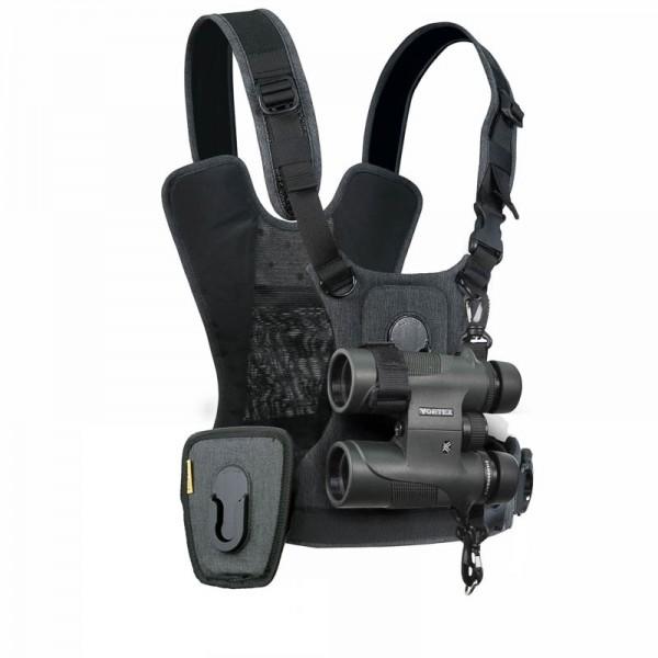 Cotton Carrier CCS G3 Camera Harness Binocular Charcoal - Brustgeschirr für 1 DSLR- oder DSLM-Kamera