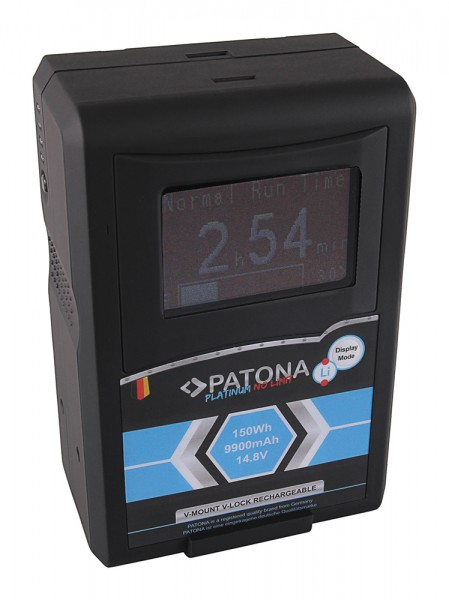 Pantona Platinum LCD Akku RED ARRI V-Mount 150Wh f. Sony DSR 250P 600P 650P 652P HDW 800P PDW 850 BP