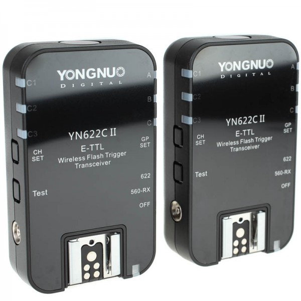 Yongnuo YN622C II 100m E-TTL Funk-Blitzauslöser für Canon mit SCS, HSS und Gruppensteuerung