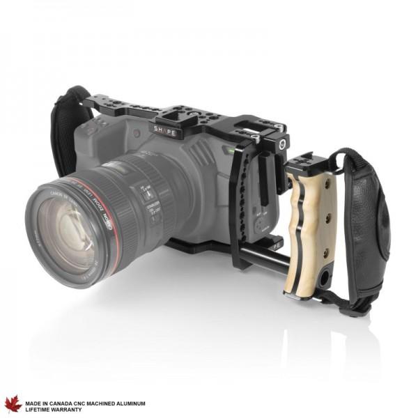 Shape Cage und Miniholzgriff für die BlackMagic Pocket Cinema 4K/6K