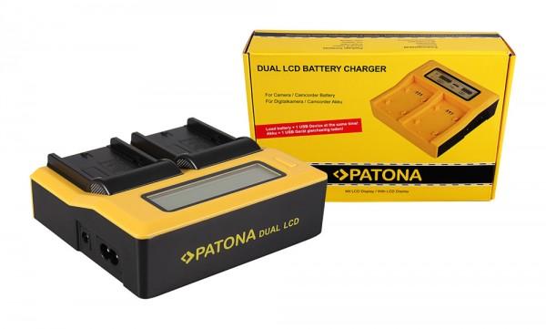 Patona Dual LCD USB Ladegerät f. Sony NP-FM50 VW-VBD1 BN-V607U