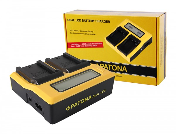 Patona Dual LCD USB Ladegerät f. Sony NP-FZ100 A7 III A7M3 Alpha 7 III A7 R III A7RM3 Alpha 7 R III