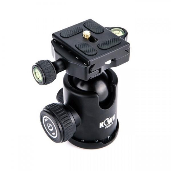Kiwifotos Kugelkopf mit Schnellkupplung (Arca-kompatibel) - z.B. für DSLR-Kameras - Tragfähigkeit 8