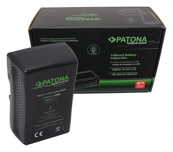 PATONA Premium Akku V-Mount 190Wh f. Sony BP190WS DSR 250P 600P 650P 652P