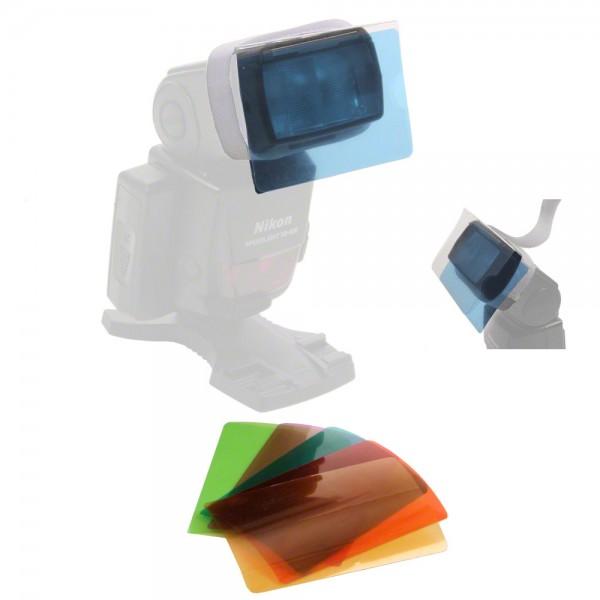 Walimex Farbfilter-Set für Kompaktblitze - 6tlg