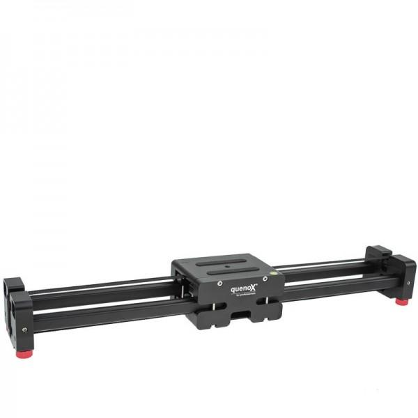 Quenox Ausleger-Videoschiene mit Doppel-Gleitweg (bis zu 74 cm) - z.B. für DSLR- und DSLM-Kameras