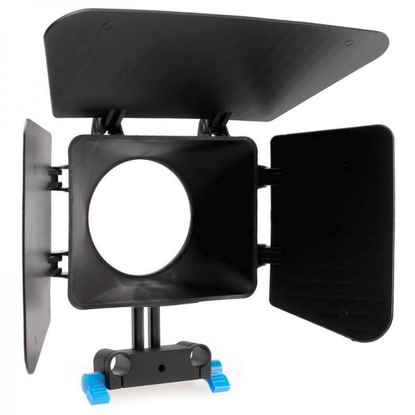 Matte Box Sonnenblende Quenox für 15mm DSLR Rig System
