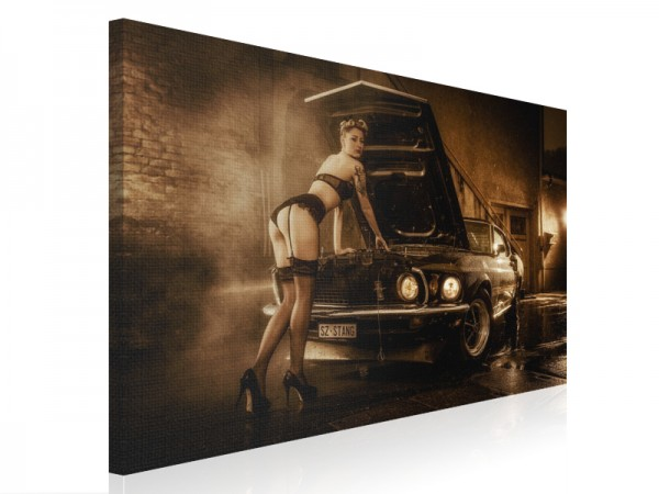 Leinwand - The Mustang Girl - Part V - 80x60cm