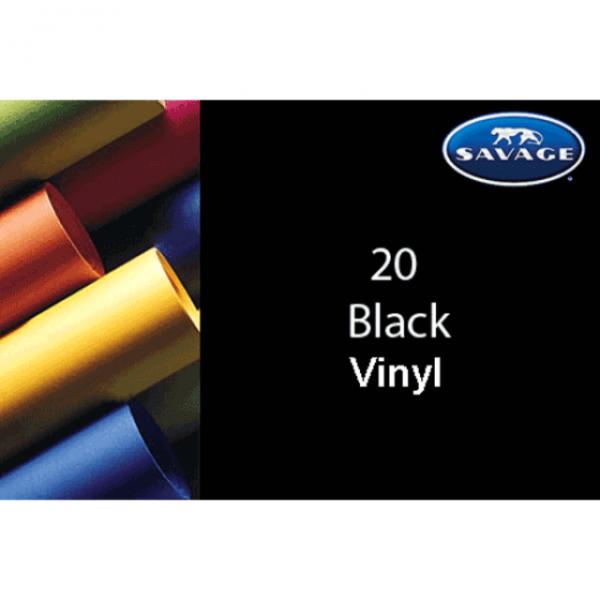 Savage Colorvinyl Hintergrund, 2,75 X 6.10cm in schwarz