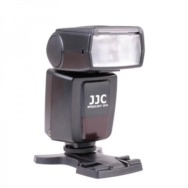 JJC SF-33 Blitzgerät für Kameras mit Standard-Blitzschuh Leitzahl 33