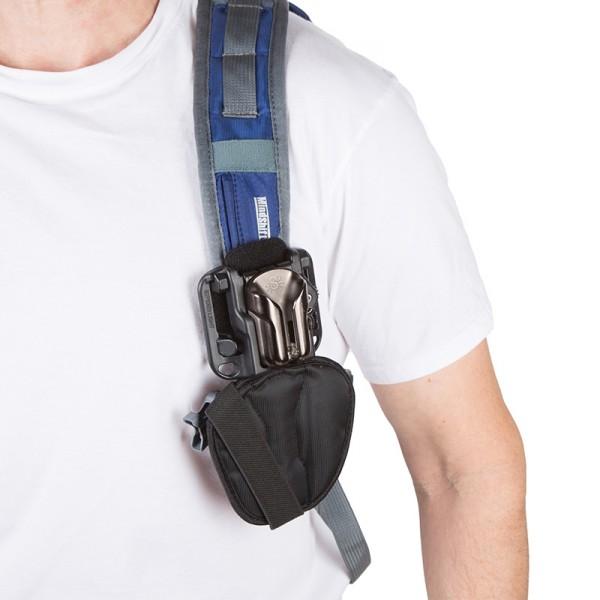 2in1 Spider Light Backpacker Kit inkl. Gürtel-Holster, Kameraplatte und Rucksack-Adapter