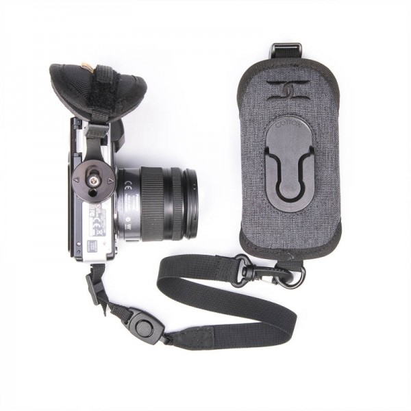 Cotton Carrier StrapShot Holster G3 Grey - Rucksackgurt-Holster für 1 DSLR- oder DSLM-Kamera