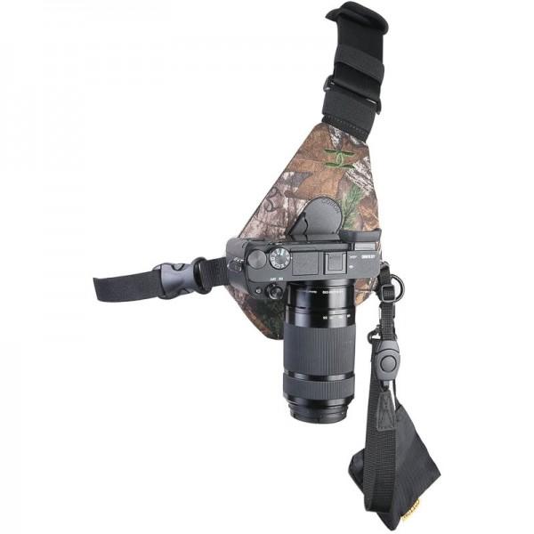 Cotton Carrier Skout Camo - Schlankes Brustgeschirr für 1 DSLR- oder DSLM-Kamera