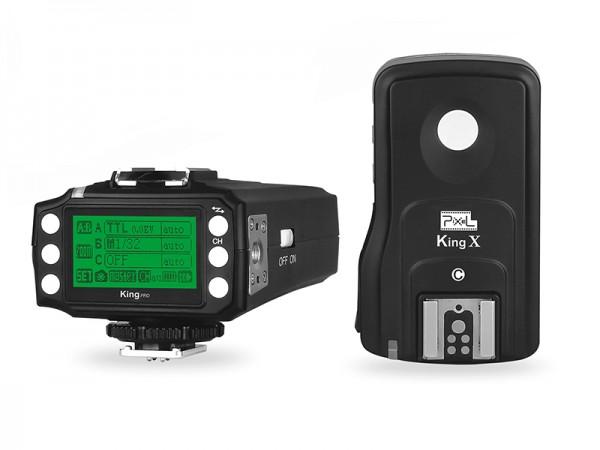 Pixel Wireless Trigger für Canon - i-TTL Radio Blitzauslöser 2er-Set King Pro