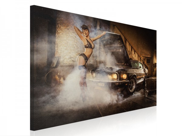 Leinwand - The Mustang Girl - 80x60cm