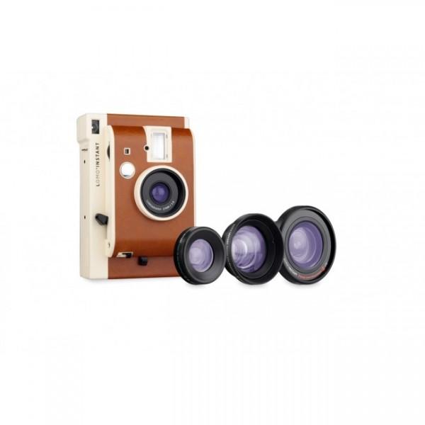 Lomography Sofortbildkamera Lomo'Instant Mini San Remo + 3 Lenses