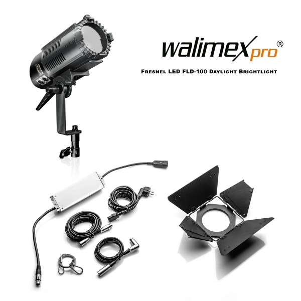 Walimex pro Fresnel LED FLD-100 Daylight Brightlight 100W