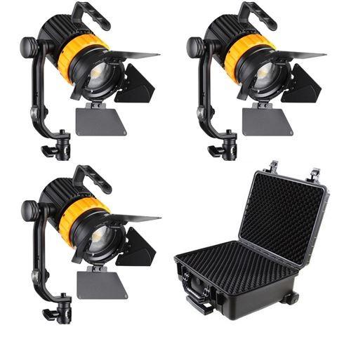 Falcon Eyes Bi-Color Mini LED Fresnel Set P-5AD-K3
