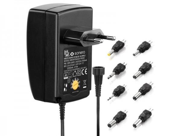Sonero Steckernetzteil 12 V 4.5 V 7.5 V