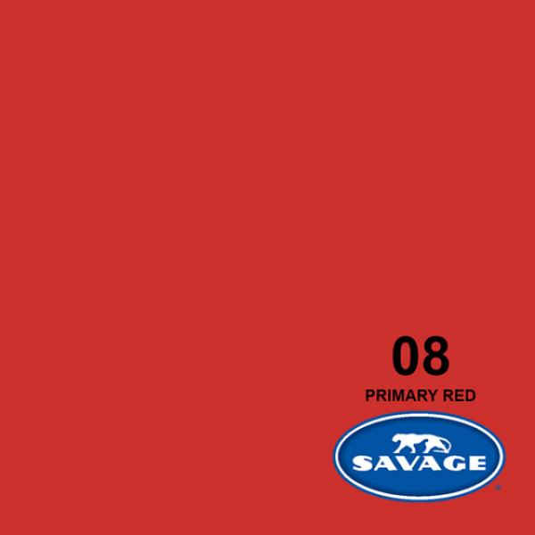 Savage Primary Red Papier 11 x 2.72 m Hintergrund Rolle