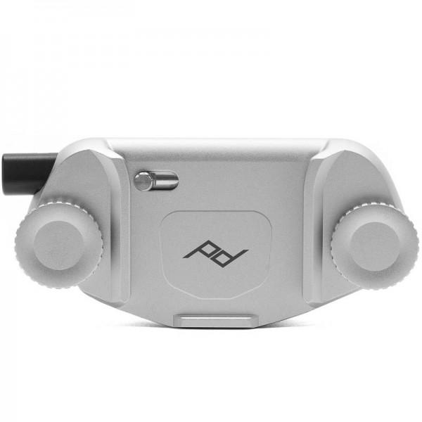 Peak Design Capture Clip v3 inkl. Standard Plate - Silver (Silberfarben) - Kameraclip zum Tragen von