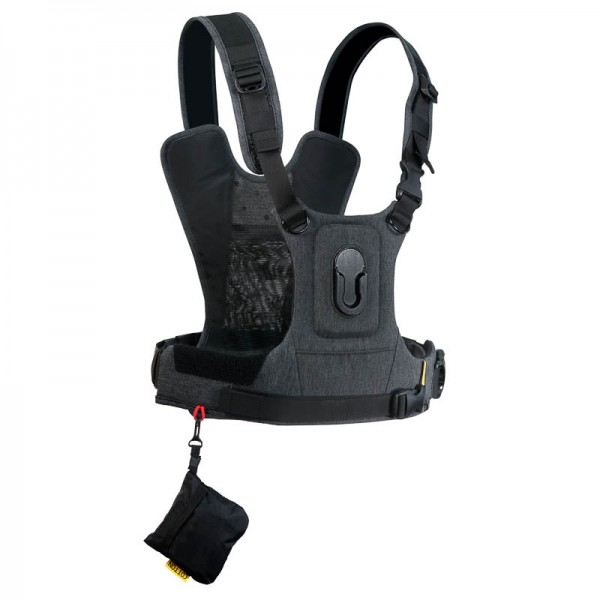 Cotton Carrier Camera Harness G3 Charcoal - Brustgeschirr als Tragesystem für 1 Kamera