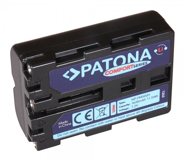 Patona Comfort Akku für Sony NP-FM500H Alpha 57 65 77 99 DSLRA100 DSLR-A100 DSLRA100H