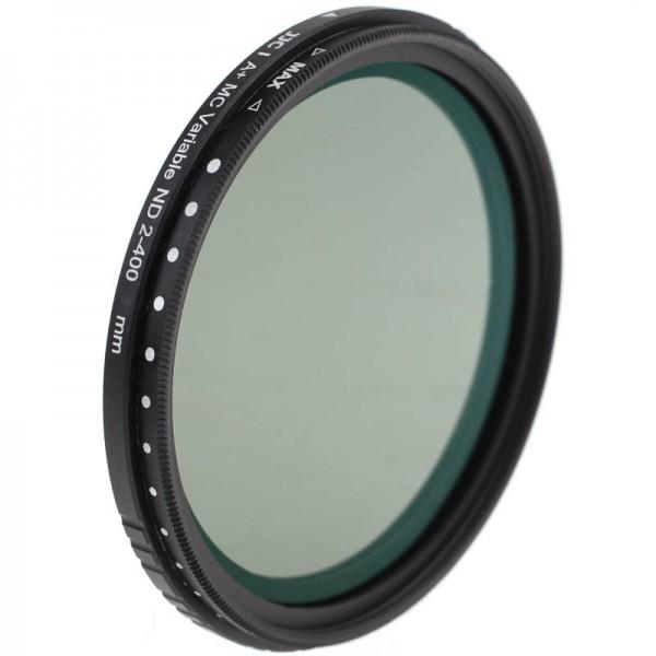 JJC ND Vario-Graufilter 77 mm mit Mehrschichtvergütung - +1 bis +8,6 Blendenstufen