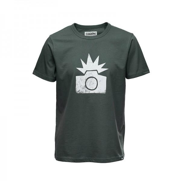 COOPH T-Shirt Flash Fotografenshirt dunkelgrün