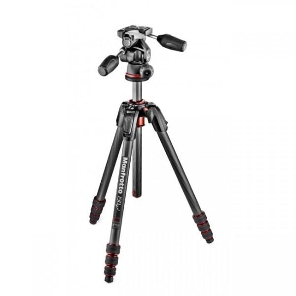 Manfrotto 190go! Carbon Kamerastativ, mit MH804-3W Neigekopf