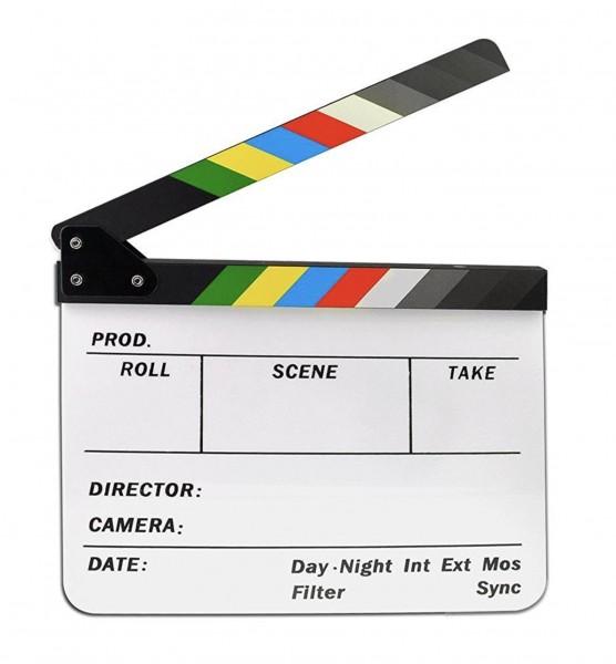 Filmklappe aus Acryl - weiss