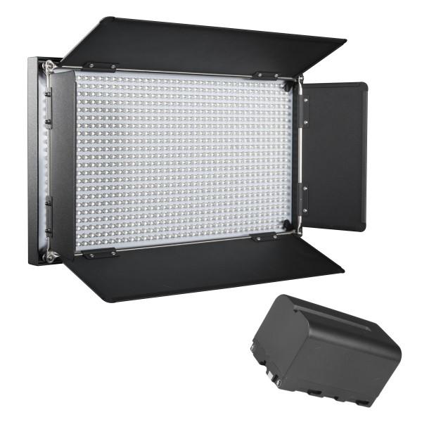 Walimex pro LED Brightlight 876 Bi Color Akku Set
