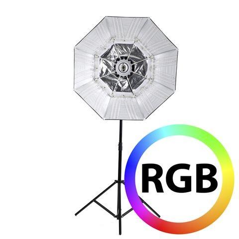 Falcon Eyes RGB LED Lampe RX-782 mit Faltbare Softbox 100 cm