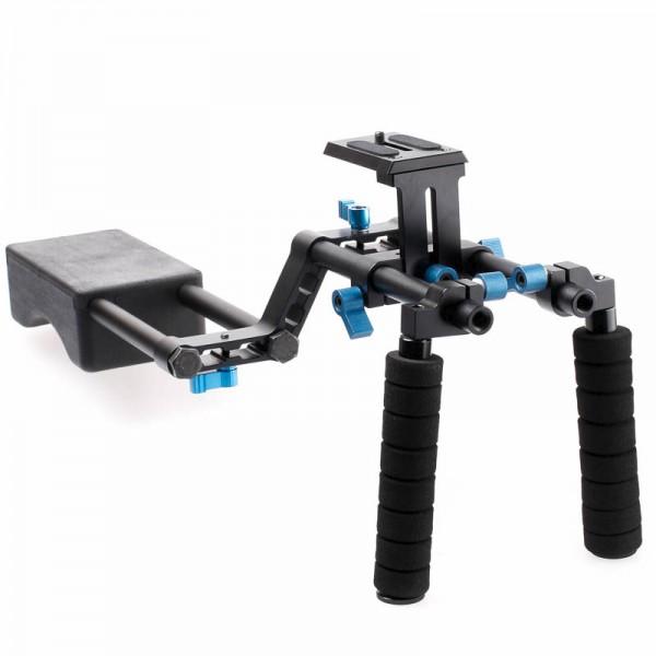 Mittelgrosses DSLR Rig Video-Schulterstativ Quenox - 15mm-System