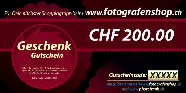 Geschenkgutschein CHF 200.00