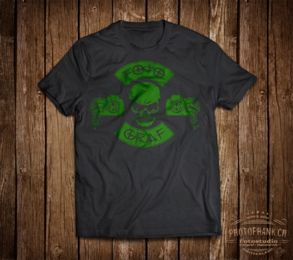 T-Shirt Fotograf - grün