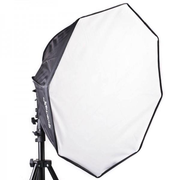 Quenox Softbox - achteckig 70 cm Easy-Fold 150W