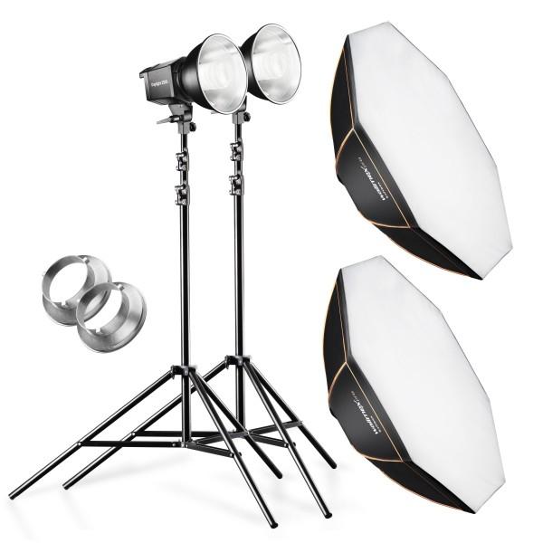 Walimex Pro 2er Set Daylight 250S+ Octagon+ Stativ