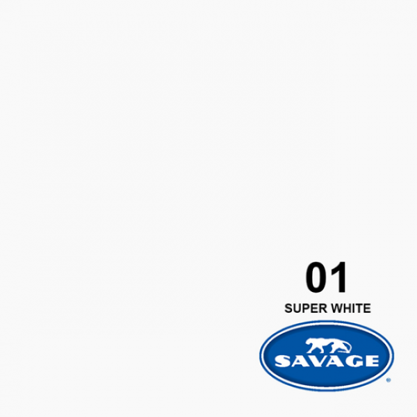 Savage Hintergrundpapier Super White 3.60x32m