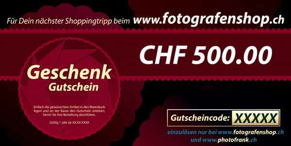 Geschenkgutschein CHF 500.00