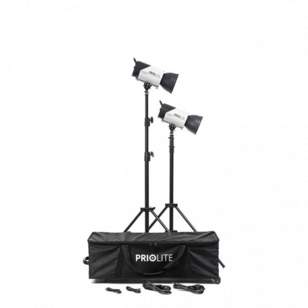 Priolite Priolite M500 Kit Köln, mit 2 x M500, 2 Reflektoren, 2 Stativen, 1 Koffer